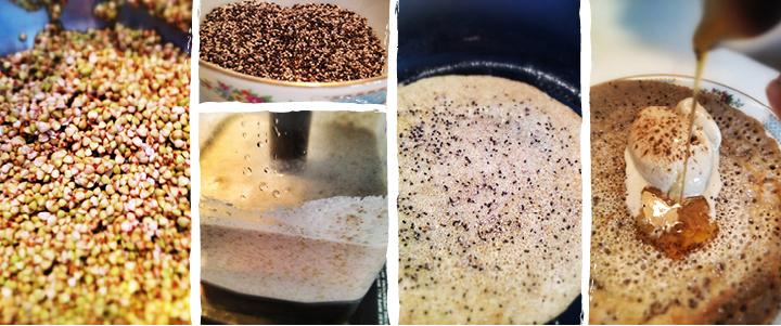 Pancake de sarrasin germé